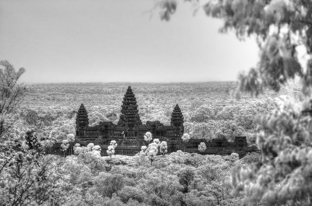 Angkor Wat from Phnom Bakeng (IR)