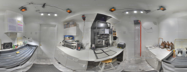 A bad pano of my darkroom.